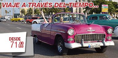 Excursion en Autos antiguos en Cuba